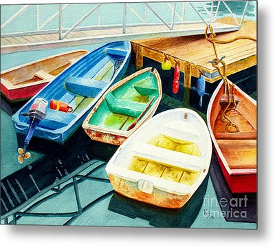 Fishing Boats Metal Print by Karen Fleschler