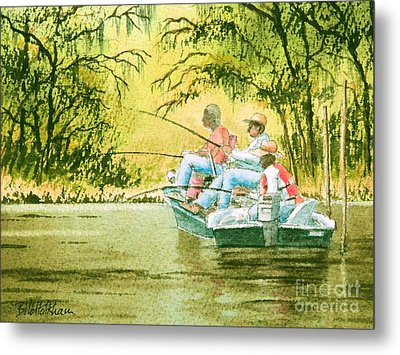 Fishing For Mullet Metal Print by Bill Holkham