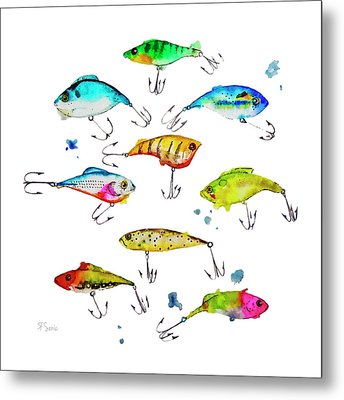 Fishing Is Fly No4 Metal Print by Roleen  Senic