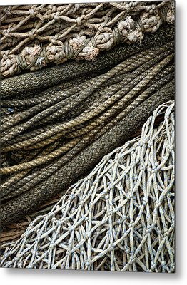 Fishing Nets Metal Print by Carol Leigh