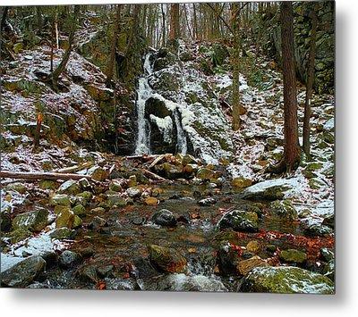 Fitzgerald Falls Is Along The Appalachian Trail 6 Metal Print by Raymond Salani III