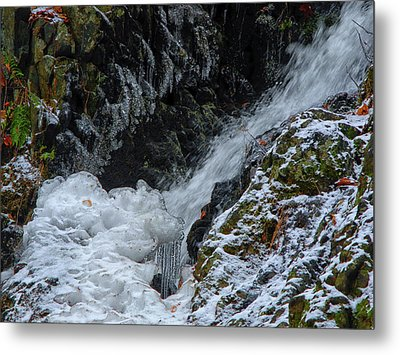 Fitzgerald Falls Is Along The Appalachian Trail Metal Print by Raymond Salani III
