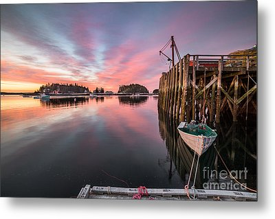 Five Islands Sunrise Reflections Metal Print by Benjamin Williamson