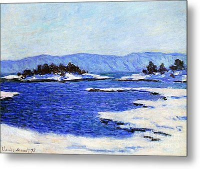 Fjord At Christiania Metal Print by Claude Monet