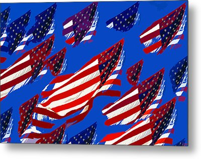 Flags American Metal Print by David Lee Thompson
