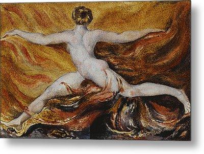 Flames Of Furious Desires Metal Print by William Blake