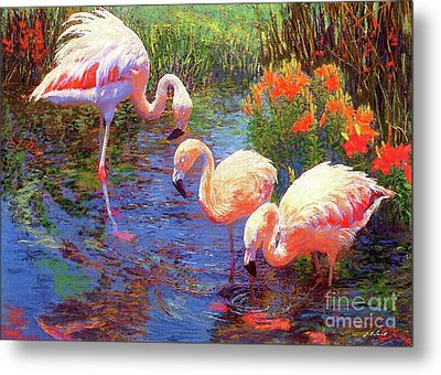 Flamingos, Tangerine Dream Metal Print by Jane Small