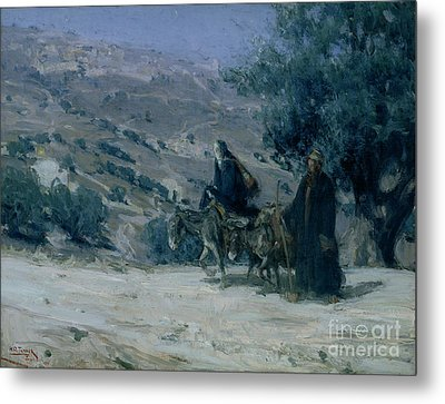 Flight Into Egypt Metal Print by Henry Ossawa Tanner