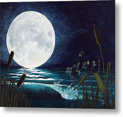 Flight Of The Moon Faries Metal Print by Deborah Ellingwood