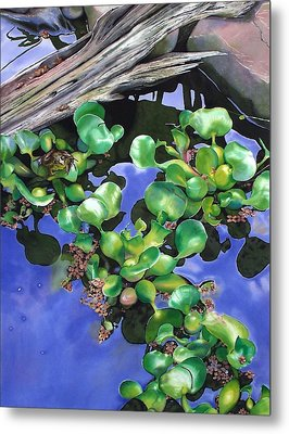Floating Lilacs Metal Print by Denny Bond