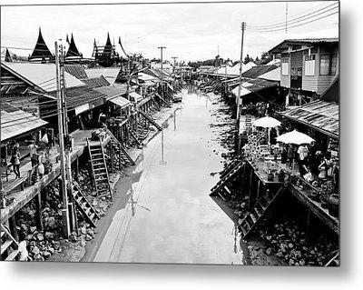 Floating Market In Thailand Metal Print by Sarayut Mathavetchathum