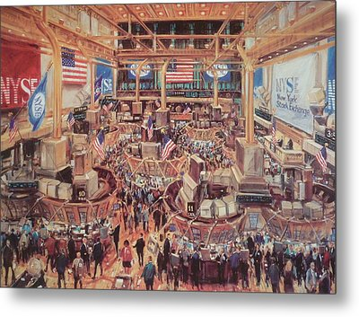 Floor Of The Nyse Metal Print by Kamil Kubik