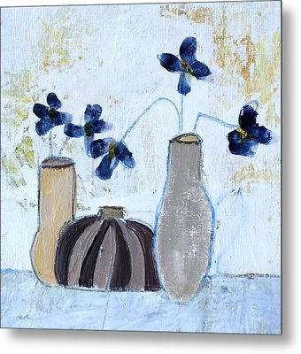 Floral Delight Metal Print by Judy Jacobs