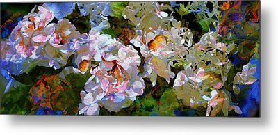 Floral Fiction 2 Metal Print by Hanne Lore Koehler
