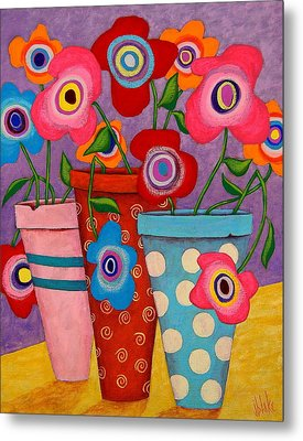 Floral Happiness Metal Print by John Blake