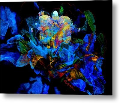 Floral Phantom Metal Print by Hanne Lore Koehler