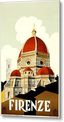 Florence Travel Poster Metal Print by Italian School