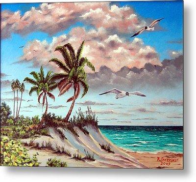Florida Gulf Dune Metal Print by Riley Geddings