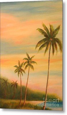 Florida Palms Trees Metal Print by Gabriela Valencia