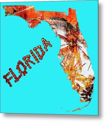 Florida Map Metal Print by Skip Nall