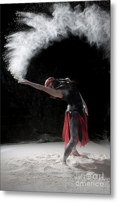 Flour Dancing Series Metal Print by Cindy Singleton