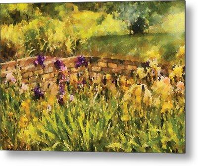 Flower - Iris - By The Bridge Metal Print by Mike Savad