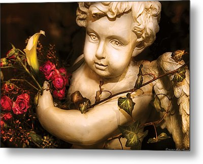 Flower - Rose - The Cherub  Metal Print by Mike Savad