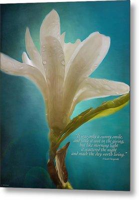 Flower Art - Like Morning Light Metal Print by Jordan Blackstone