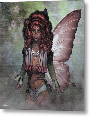 Flower Fairy 009 Metal Print by G Berry