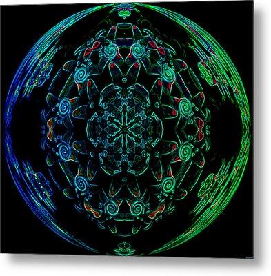 Flower Globe Metal Print by Evelyn Patrick