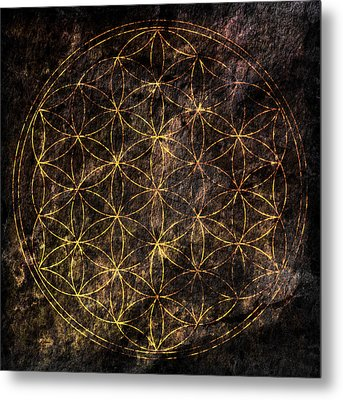 Flower Of Life 2 Metal Print by Edouard Coleman