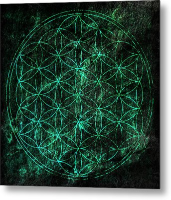Flower Of Life 1 Metal Print by Edouard Coleman