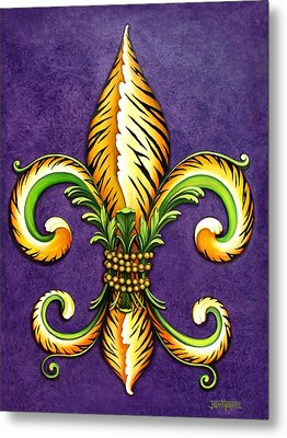 Flower Of New Orleans Lsu Metal Print by Judy Merrell