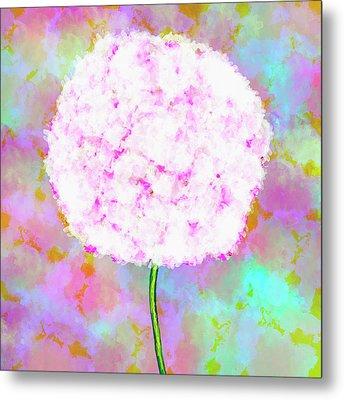 Flower On Color Metal Print by Skip Nall