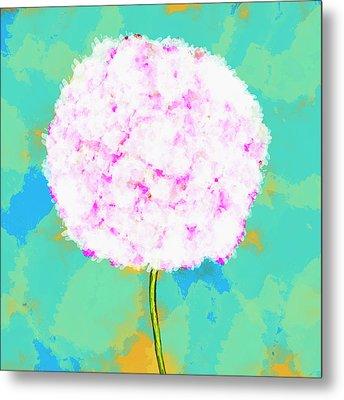 Flower On Green Metal Print by Skip Nall