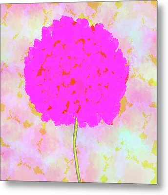 Flower On Pink Metal Print by Skip Nall