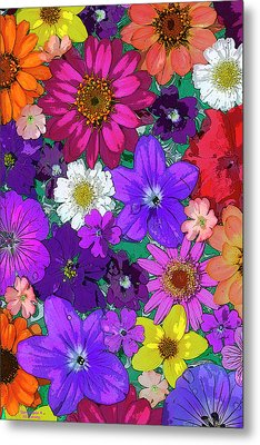 Flower Pond Vertical Metal Print by JQ Licensing
