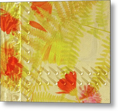 Flower Shower II Metal Print by Bonnie Bruno