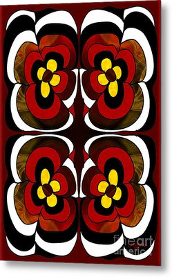 Flowering Fantasies Abstract Bliss Art By Omashte Metal Print by Omaste Witkowski