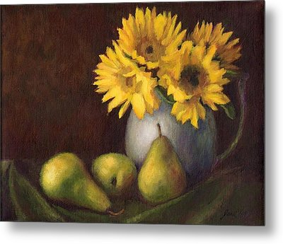 Flowers And Fruit Metal Print by Janet King
