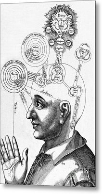 Fludds Mental Faculties, 1617 Metal Print by Wellcome Images