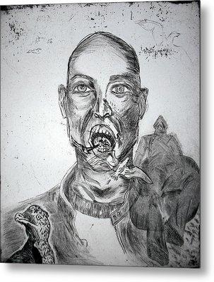 Fluttering Out Metal Print by Krystl Louwagie