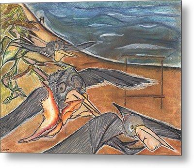 Fly By Metal Print by Stu Hanson