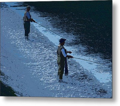 Fly Fishing Metal Print by Julie Grace