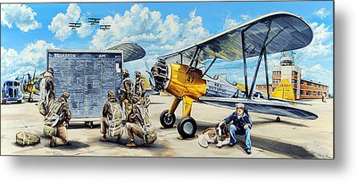 Flyers In The Heartland Metal Print by Charles Taylor