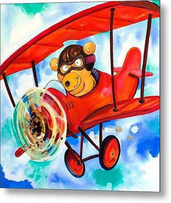 Flying Bear Metal Print by Scott Nelson