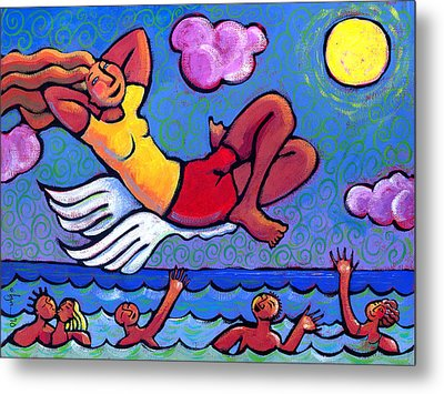 Flying By The Seat Of My Pants Metal Print by Angela Treat Lyon