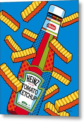 Flying Fries Metal Print by Ron Magnes