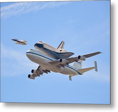 Flying Into History Metal Print by Andrew J. Lee