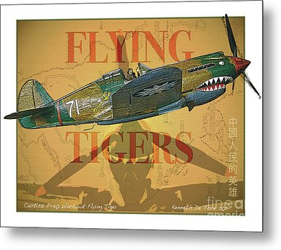 Flying Tigers Metal Print by Kenneth De Tore